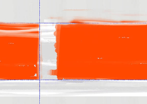 Orange Rectangle Poster