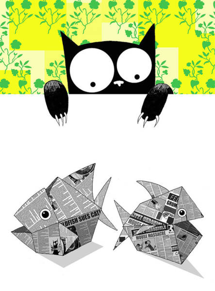 Origami Fish Poster