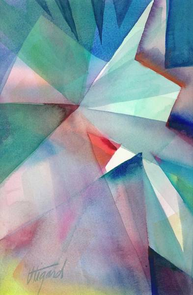 Poster featuring the painting Origami Sky by Carolyn Utigard Thomas