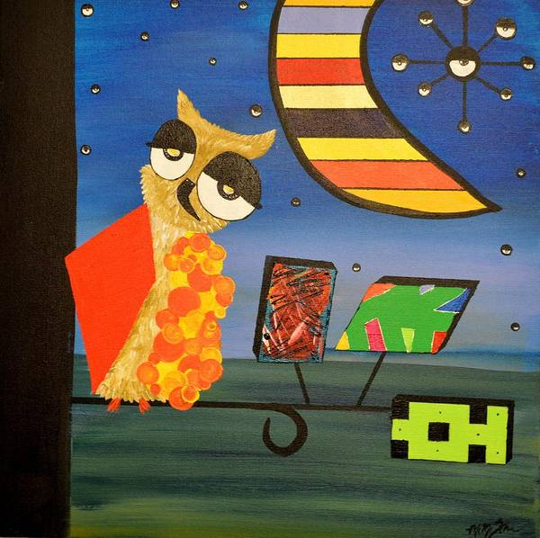 Original Acrylic Artwork By Mimi Stirn - Hoomasters Collection - Hoopicasso #410 Poster