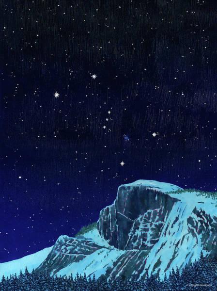 Orion Over Yosemite Poster