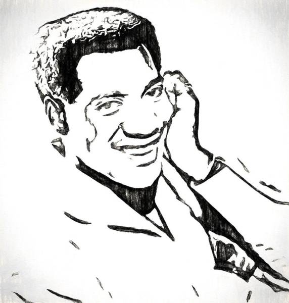 Otis Redding Charcoal Sketch Poster