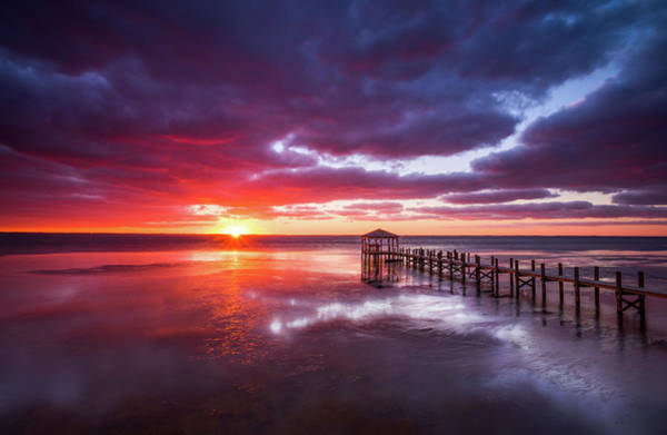 Outer Banks Duck North Carolina Sunset Seascape Photography Obx Poster