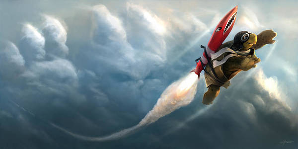 Outrunning The Clouds Poster