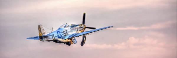 P-51 Mustang Taking Off Poster