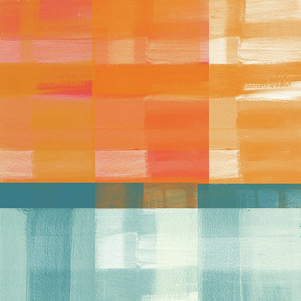 Pacific Sunset 2- Abstract Art By Linda Woods Poster