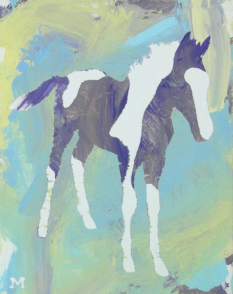 Painted Foal Poster