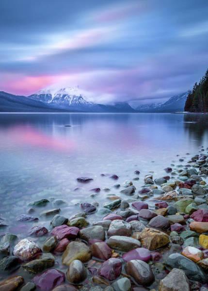 Painted Skies Over Stanton Peak // Lake Mcdonald, Glacier National Park Poster