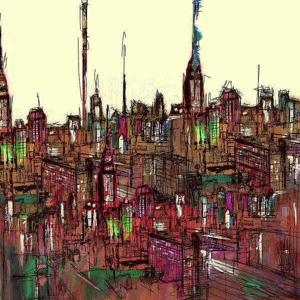 Painting 775 1 New York Skyline Poster