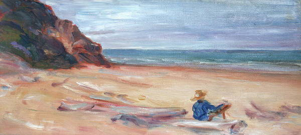 Painting The Coast - Scenic Landscape With Figure Poster