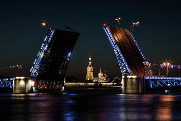 Palace Bridge At Night Poster