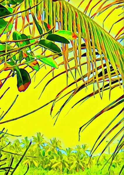 Palm Fragment In Yellow Poster