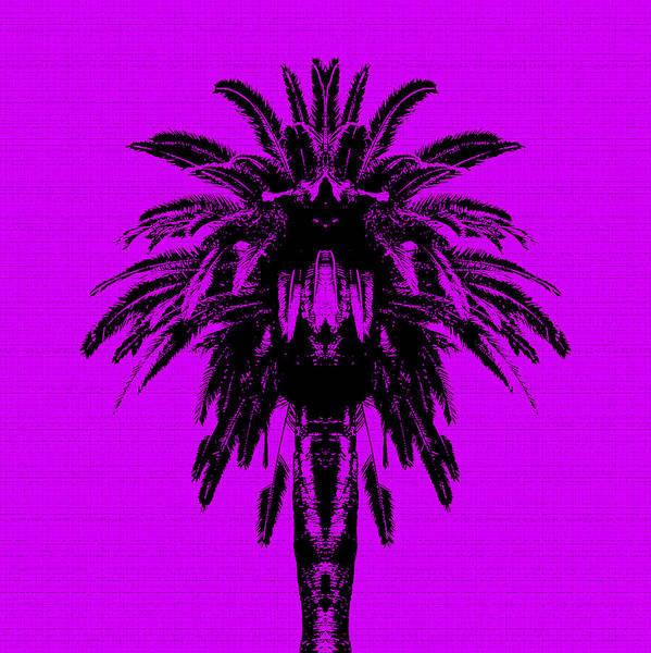 Palm Tree - Purple Sky Poster