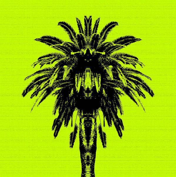 Palm Tree - Yellow Sky Poster