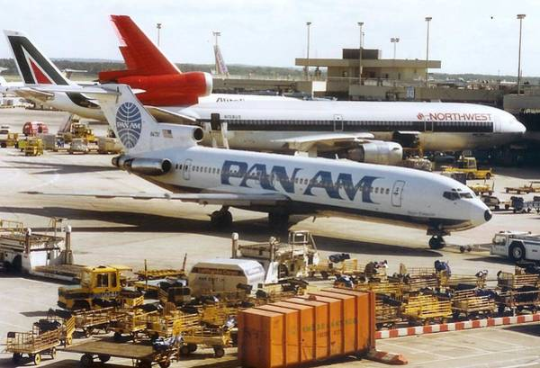 Pan American 727 Pushed Back From Its Gate At Frankfurt Poster