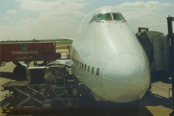 Pan American 747 At London Heathrow Airport Poster