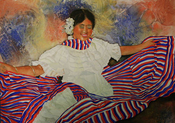 Poster featuring the painting Panama Dancer by Jean Blackmer
