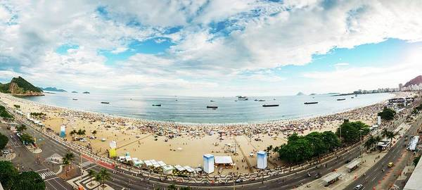 Panorama Of Copacabana, Rio De Janeiro, Brazil  Poster