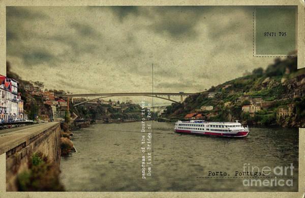 panorama of the Douro river, Dom Luiz Bridge of  Porto, Portugal Poster