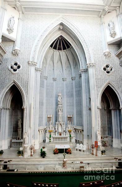 Panorama Of The Main Altar Of St. John The Evangalist Roman Catholic Church Schenectady Poster