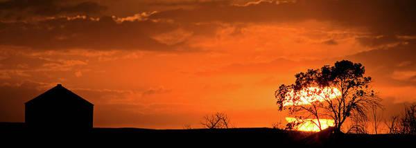 Panoramic Prairie Sunset Poster