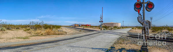 Panoramic Railway Signal Poster