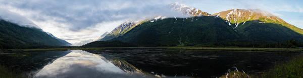 Panoramic View Of Tern Lake Poster