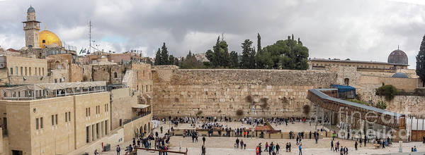 Panoramic View Of The Wailing Wall In The Old City Of Jerusalem Poster