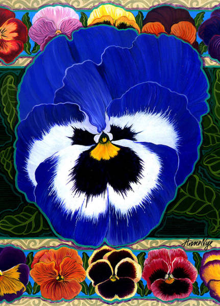 Pansy Faces II Poster