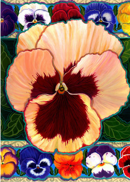 Pansy Faces IIi Poster