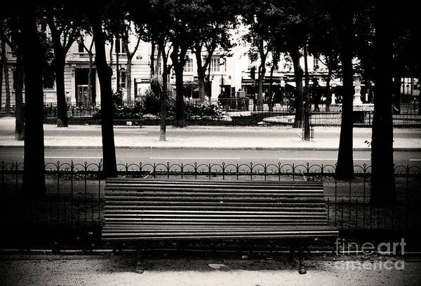 Paris Bench Poster