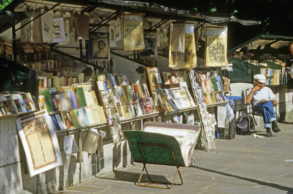 Paris Bookseller Stall Poster