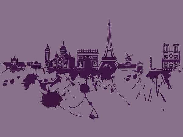 Paris Skyline.1 Poster