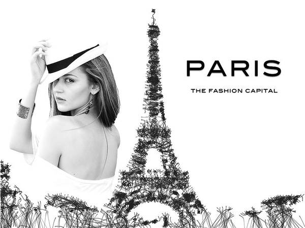 Paris The Fashion Capital Poster