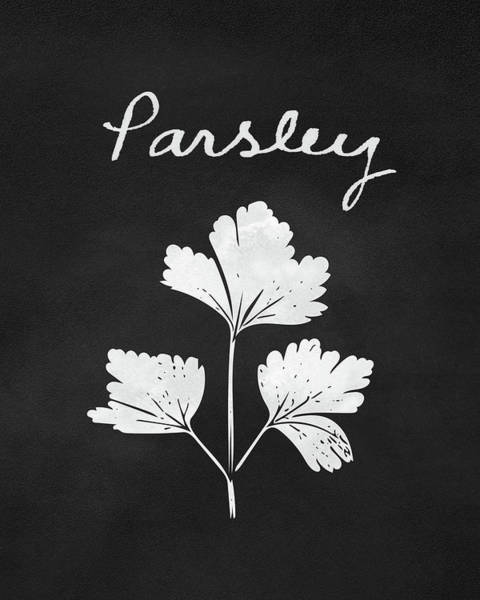 Parsley Black And White- Art By Linda Woods Poster
