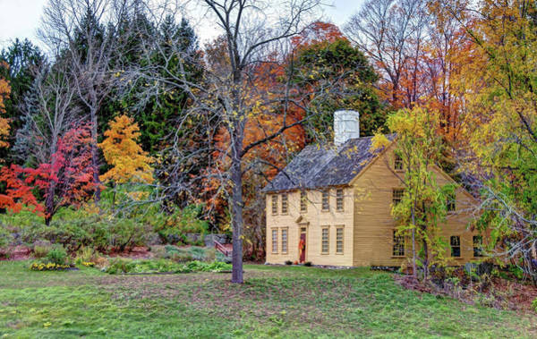Poster featuring the photograph Parson Barnard House In Autumn by Wayne Marshall Chase