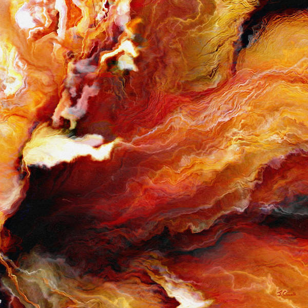 Passion - Abstract Art - Triptych 3 Of 3 Poster