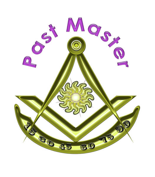 Past Master In White Poster