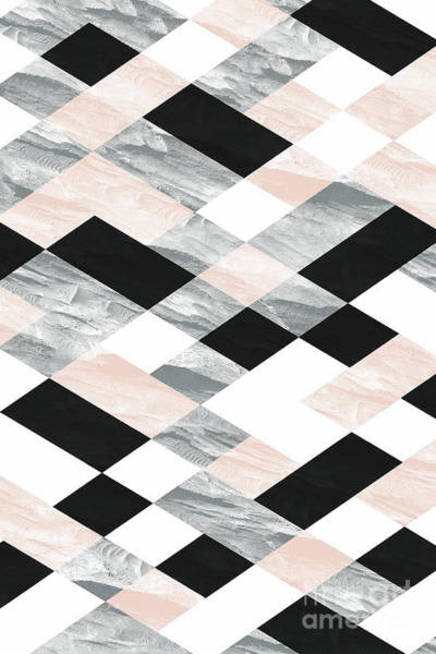 Pastel Scheme Geometry Poster