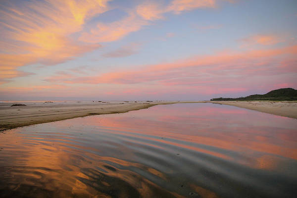 Pastel Skies And Beach Lagoon Reflections Poster