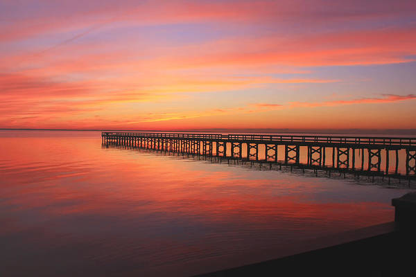 Pastels At The Hilton Fishing Pier  Poster