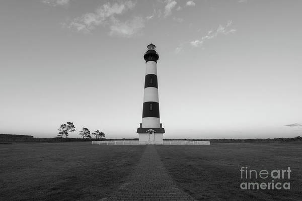Path To Bodie Light Bw  Poster