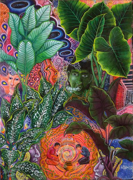 Poster featuring the painting Patinguina Samai  by Pablo Amaringo