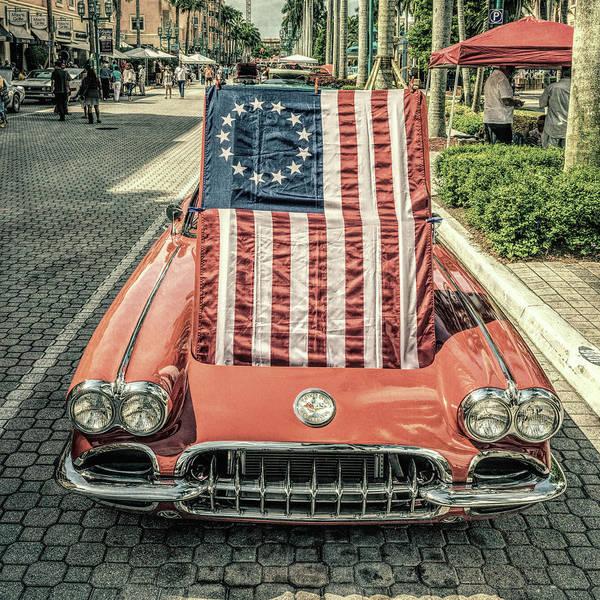Patriotic Vette Poster