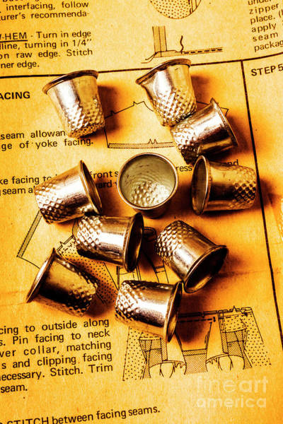 Patterns And Thimbles Poster