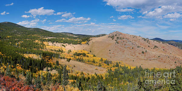 Peak To Peak Highway Fall Foliage In The Rocky Mountains - Boulder County Colorado State Poster