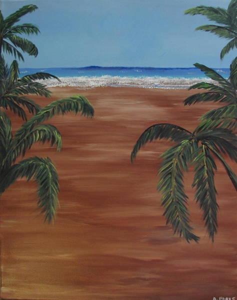 Peeking Palm Trees Poster