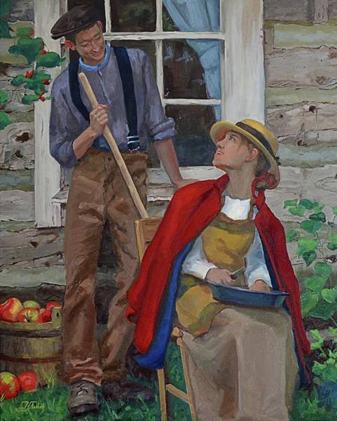 Peeling Apples Poster