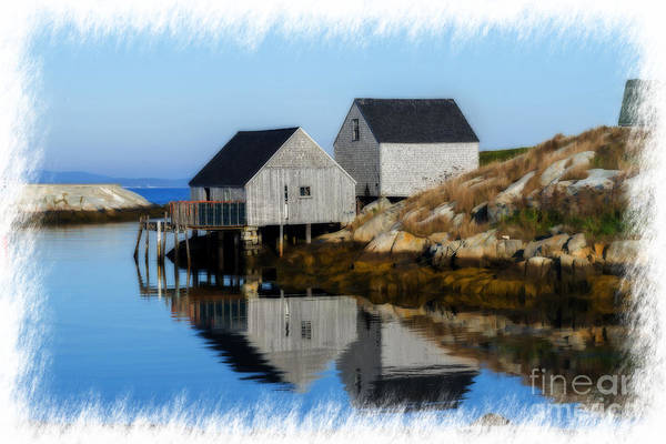 Peggys Cove Marina With Fishing Houses  Poster
