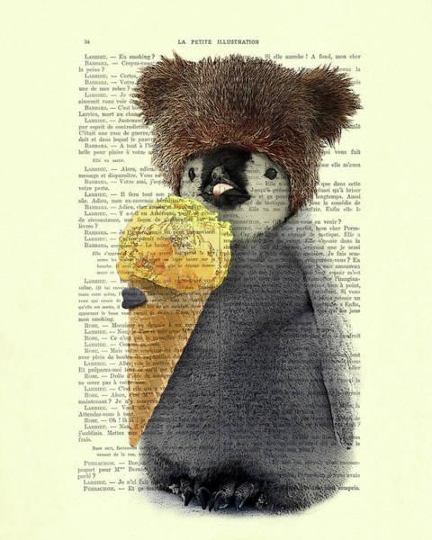 Penguin Ice Cream Poster